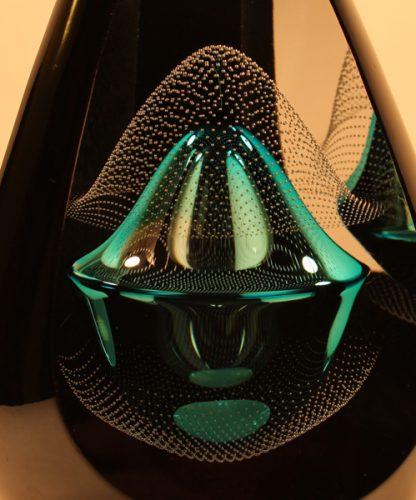Large Teggno Blue Remis Black Ornament