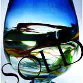 marian pyrcak hand blown decorative vase sold