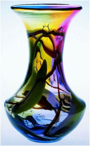 Marian Pyrcak Handmade Tall Glass Vases
