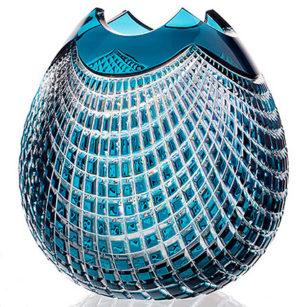 Crystal Vase Azure