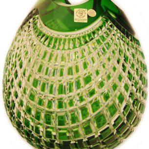 czech glass crystal vase green
