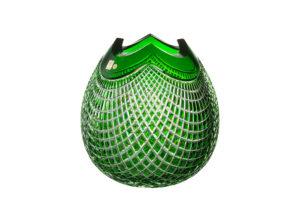 czech glass crystal vase