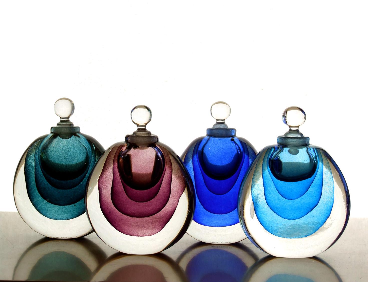 Glass Perfume Bottles   Decorative Art Deco Style Perfume ...