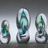 Light Blue Twisted Glass Ornaments