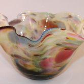 Colourful Handkerchief Glass Bowl