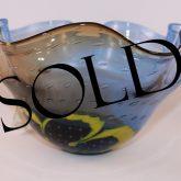 blue vintage glass bowl sold