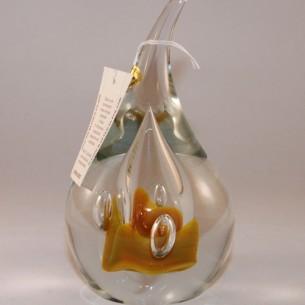 Jablonski Yellow Glass Paperweight