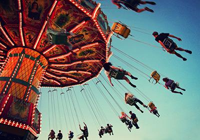 fairground ride carnival glass