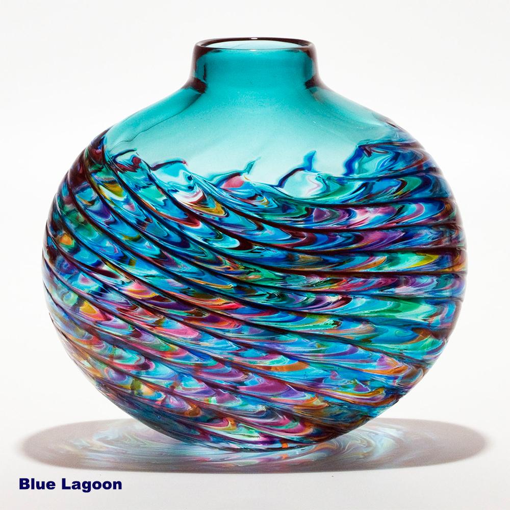 Coloured Glass Vases Optic Rib By Michael Trimpol Boha Glass