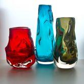 Whitefriars knobbly glass vase
