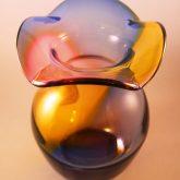 Jester glass art vases
