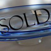 Polaris glass platter sold