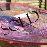 kiss glass platter sold