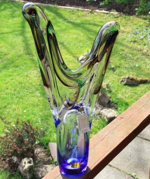 Blue Glass Ornament by Adam Jablonski