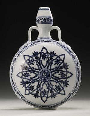 long island ming large glass vase