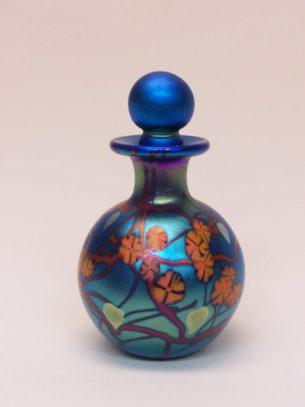 Blue California Poppy Round Glass Perfume Bottles