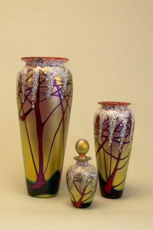 Cherry Blossom Art Deco Perfume Bottles