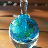 Round Silver Veil Glass Perfume Bottle