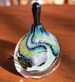 Silver Veil Glass Perfume Bottles