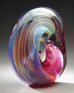 standing art glass sculpture