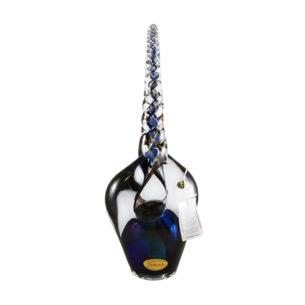 Blue Pirouette Glass Ornament