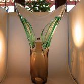Demure Tall Glass Vase By Jablonski