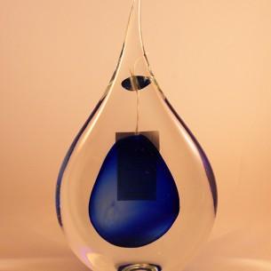jablonski midnight blue teardrop glass
