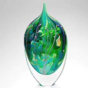 Glass Teardrop Ornament