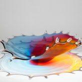 Multi-coloured Spritz Glass Bowl