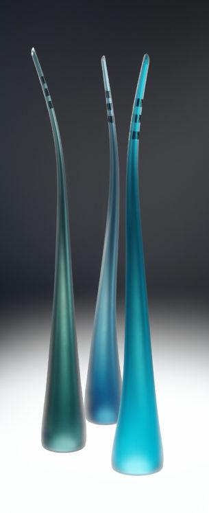 Teal Glass Ornaments Spikes II