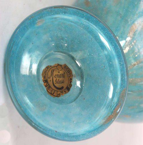 Modern Glass Art Monart glass label