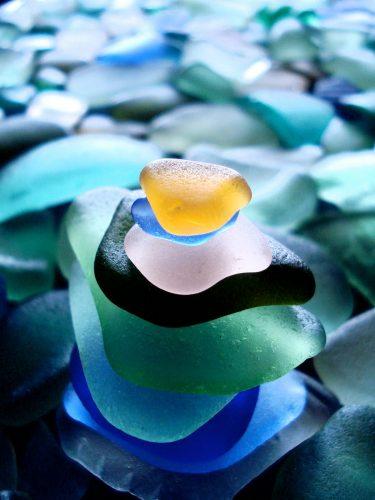 sea glass pile