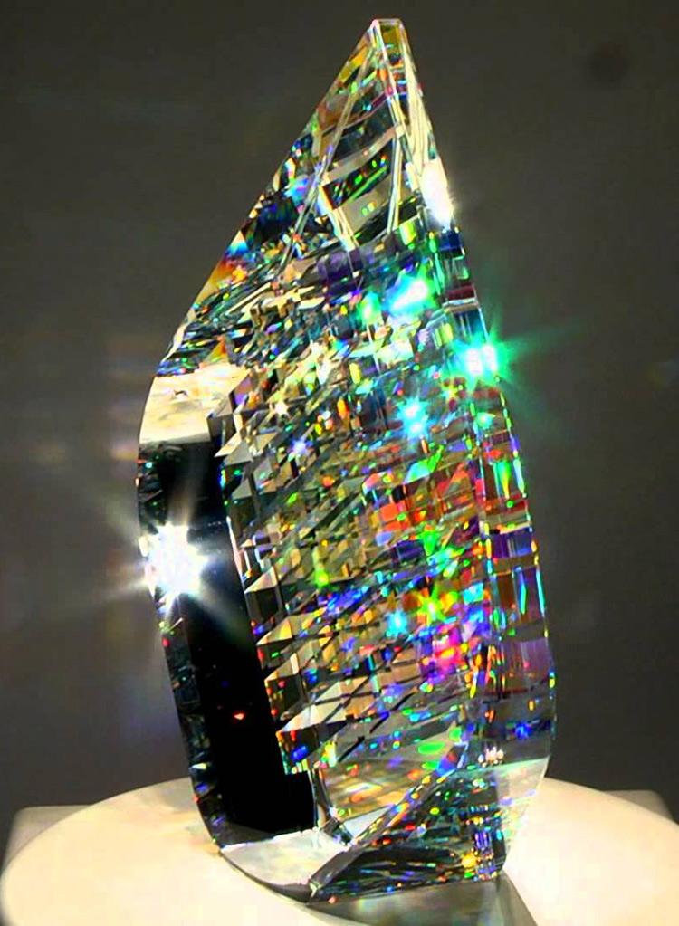 optic glass sculpture