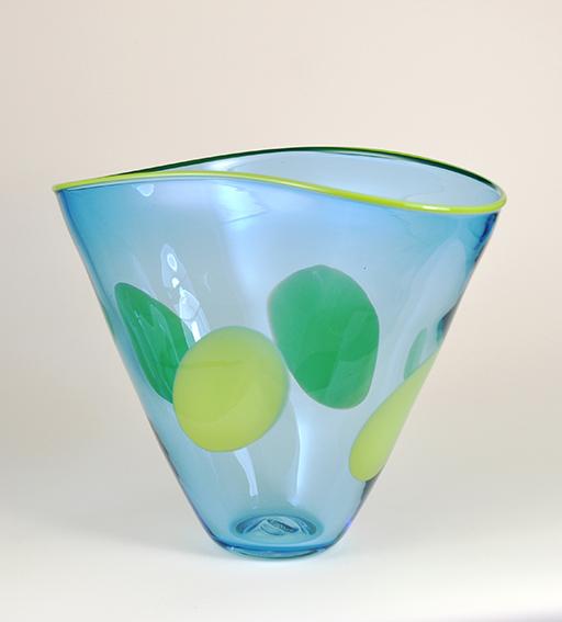 in vintage inc jack sdetail aqua vase art vases glass ocean blue czech pulpit