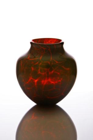 art vessel volcanic glass pot