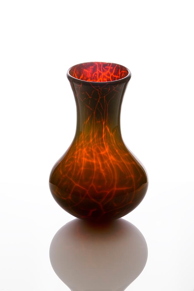 Art Vase Volcanic Vase By Glass Artist Kalki Boha Glass Egallery