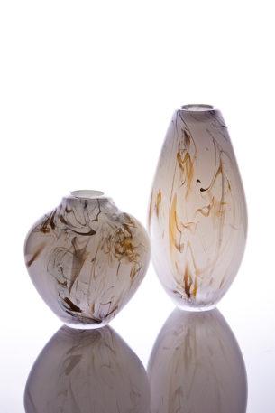 smoke rail glass vases
