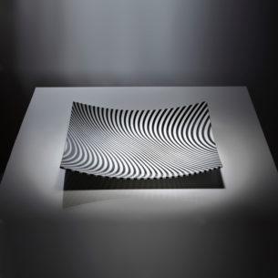 gloss hour glass platter opaque black white2 nicholas collins