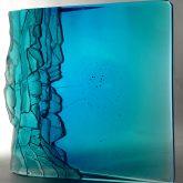 Art Glass Sculpture Blue Cliffs Square