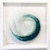 Glass Wave Sculpture