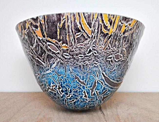 Blue vessel