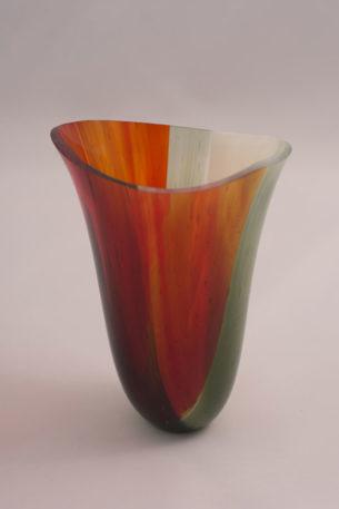 autumn inspired orange vessel IV