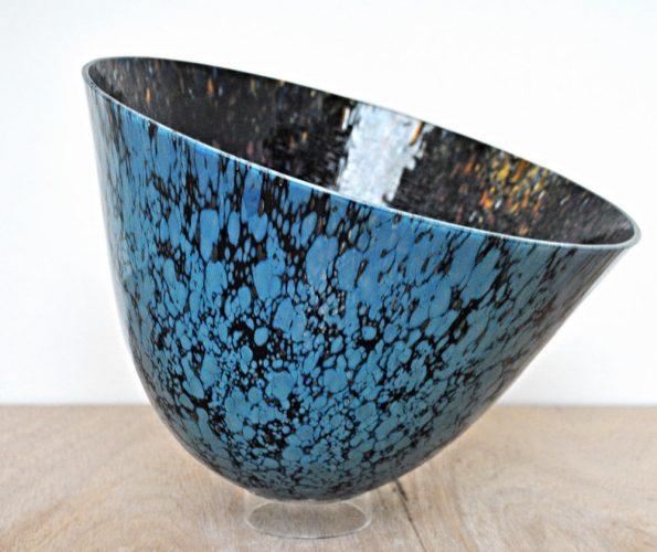 blue glass vessel moonstone