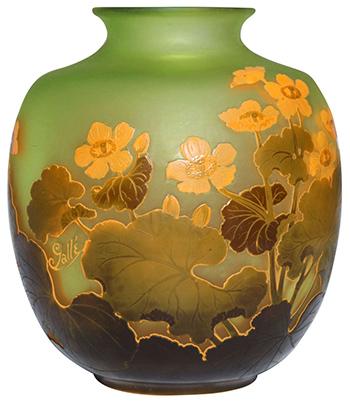 emile galle glass vase