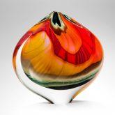 ornamental blown glass black paradiso large sailform