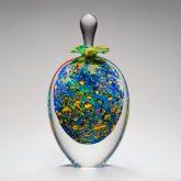 Vintage Perfume Bottle Klimt Pointillist Tall Stoneform