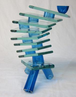Blue Glass Sculpture