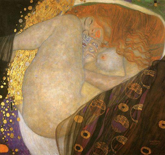 Gustav Klimt Art Danae 1907