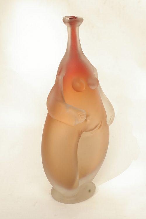Orange Glass Sculpture 'Figure' by Karlin Rushbrooke