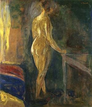 Edvard Munch art standing nude
